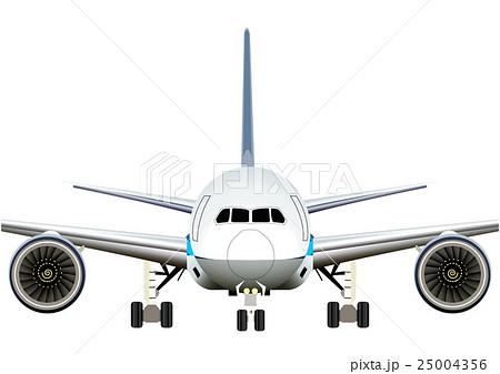 飛行機 正面アップのイラストのイラスト素材 25004356 Pixta