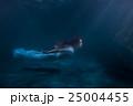 Woman as the mermaid under water. 25004455