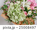 rich bouquet with hydrangea in woman hand 25008497