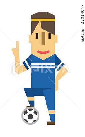 サッカー サッカー選手【フラット人間・シリーズ】 25014047