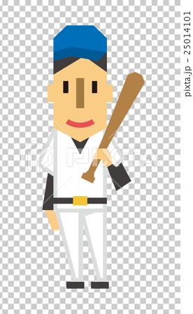 야구 선수 야구 [플랫 인간 시리즈] 25014101