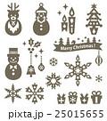 クリスマス シルエット 素材のイラスト 25015655