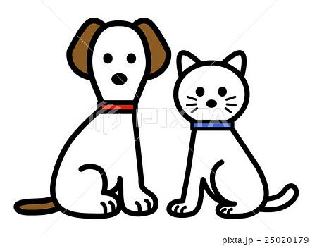 ねこと犬のイラスト素材 25020179 Pixta