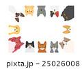 猫のフレーム 長方形 25026008