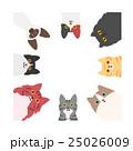 猫のフレーム 正方形 25026009