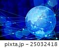 テクノロジー 地球 ネットワークのイラスト 25032418