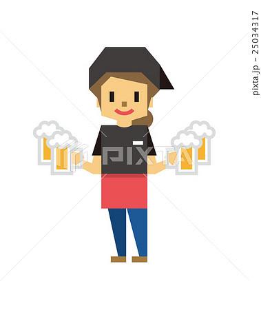 居酒屋店員 フリーター【フラット人間・シリーズ】 25034317