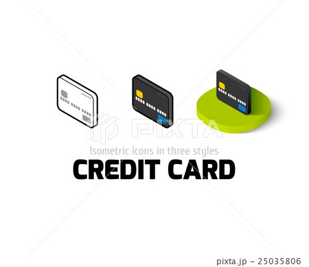 Credit card icon in different styleのイラスト素材 [25035806] - PIXTA