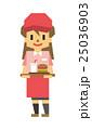 ファーストフード 従業員【フラット人間・シリーズ】 25036903