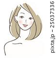 女性 ベクター 笑顔のイラスト 25037336