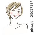 女性 ベクター 笑顔のイラスト 25037337