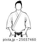 道着の男性(モノクロ) 25037460
