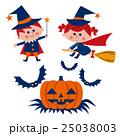 ハロウィン 子供とカボチャ 25038003