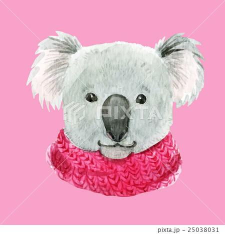 Koala in a pink scarf 25038031