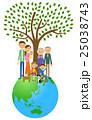 地球 家族 三世代のイラスト 25038743
