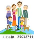 地球 人物 家族のイラスト 25038744