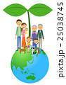 地球 人物 家族のイラスト 25038745