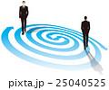 渦の上を歩くビジネスマン ビジネスイメージ 25040525