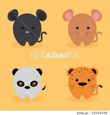 Cute cartoon animals 25043448 pixta cute cartoon animals voltagebd Gallery
