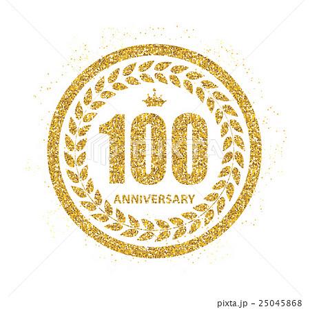 template logo 100 years anniversary vectorのイラスト素材 25045868