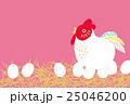 年賀状 卵をあたためるにわとり 25046200