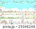 街 風船 旗 25046248
