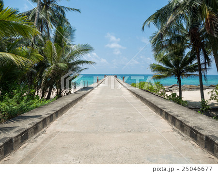 Road to harbor in beautiful day at Koh Kood 25046677