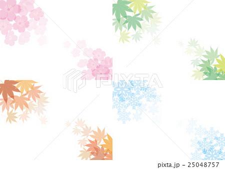 春夏秋冬 四季の背景素材 25048757