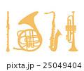 楽器のシルエット 25049404