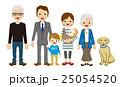 三世代家族 三世代 家族のイラスト 25054520