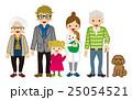 三世代家族 三世代 家族のイラスト 25054521
