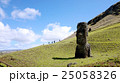 モアイ像 石像 世界遺産の写真 25058326