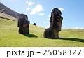 モアイ像 石像 イースター島の写真 25058327