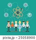 Social network and teamwork banner 25058900
