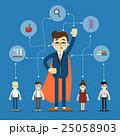 Social network and teamwork banner 25058903