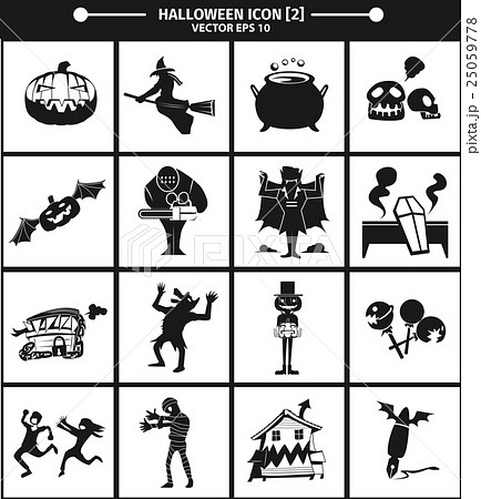 Halloween icon collection version 02. 25059778