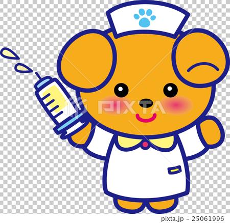 동물 간호사 귀여운 동물 간호사 주사기 개 님 발자취 25061996