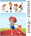 スポーツ バスケ バスケットボールのイラスト 25065404