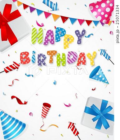 birthday party backgroundのイラスト素材 25071334 pixta