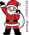 サンタクロース クリスマス 年中行事のイラスト 25081538
