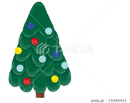 クリスマスツリー 手書き風イラストのイラスト素材 25084431