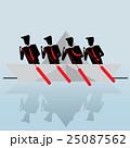 Business Team Swim Boat, Teamwork concept 25087562