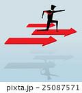 Businessman on red success arrow 25087571