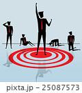 Businessman standing on a Bullseye 25087573