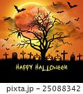 Spooky card for Halloween. 25088342
