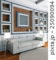 White style sofa in vintage room 25090094