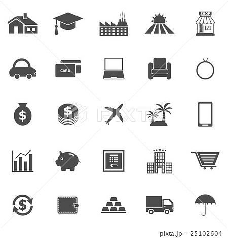 Loan icons on white background 25102604