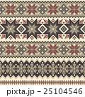ノルディック柄 雪 模様編みのイラスト 25104546