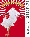 伊藤若冲「動稙綵絵 老松白鶏図」より 雄鶏 年賀状イメージ 25115478