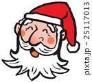 クリスマス サンタクロース 笑顔のイラスト 25117013